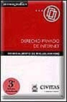 Concursopiedraspreciosas.es Derecho Privado De Internet (3ª Ed.) Image