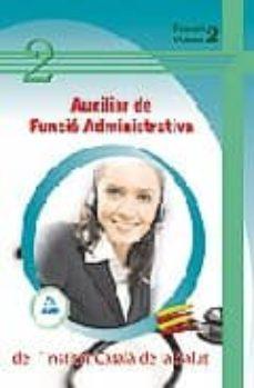Curiouscongress.es Institut Catala De La Salut: Auxiliar De Funcio Administrativa (Temari: Vol. Iii) Image