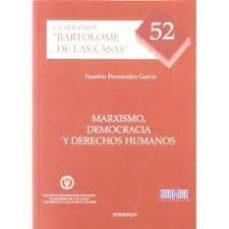 marxismo, democracia y derechos humanos-eusebio fernandez garcia-9788499828190