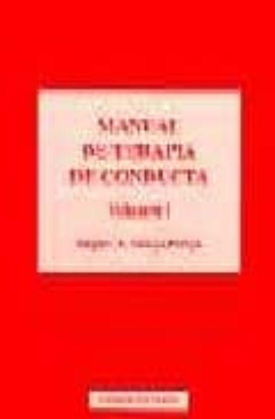 manual de terapia de conducta vallejo pdf gratis