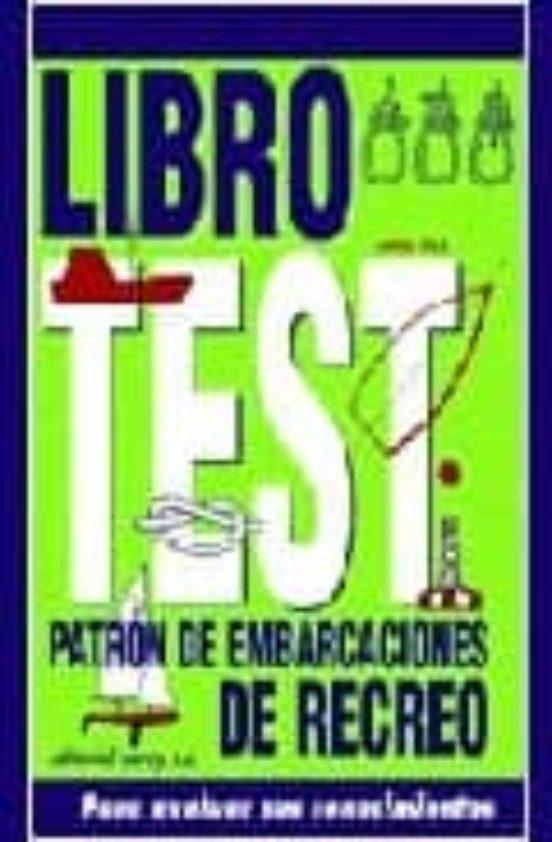 LIBRO DE TEST PATRON DE EMBARCACIONES DE RECREO de JORGE