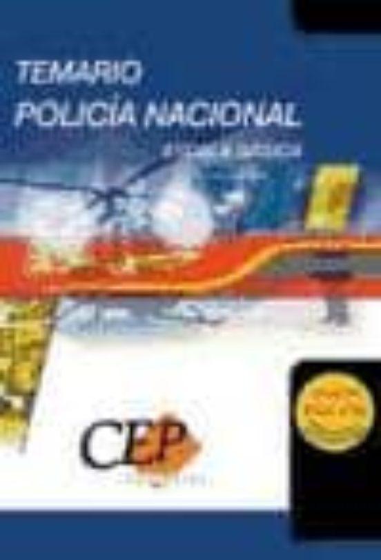POLICIA NACIONAL ESCALA BASICA. TEMARIO