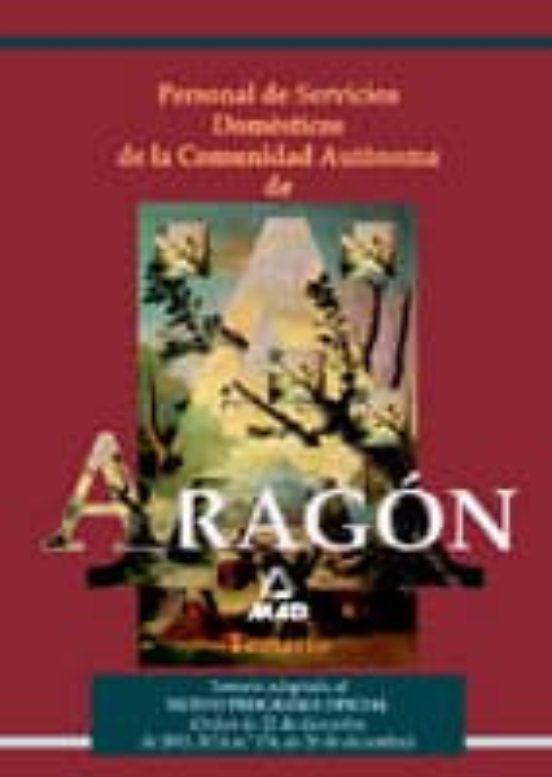 PERSONAL DE SERVICIOS DOMESTICOS: TEMARIO COMUNIDAD AUTONOMA DE A RAGON